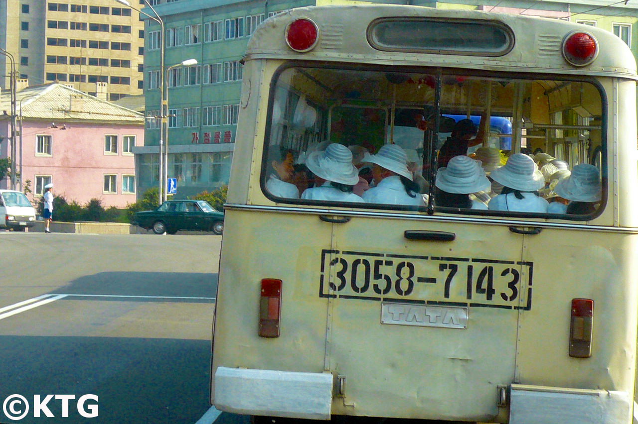 KTG will charter an old shcool Tata tram in Pyongyang, North Korea