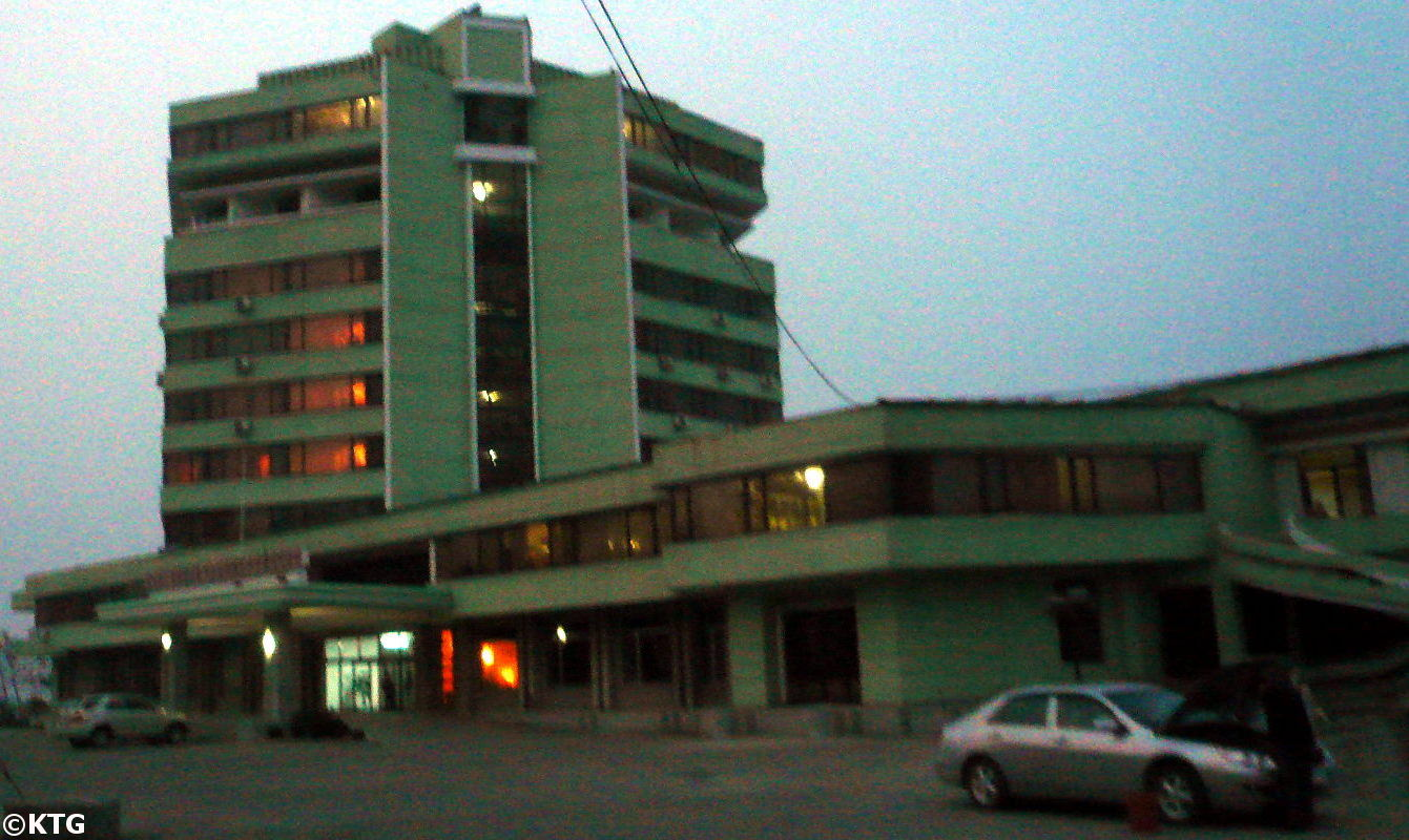 The Tongmyong Hotel in Wonsan city, provincial capital of Kangwon province, North Korea (DPRK). Trip arranged by KTG Tours