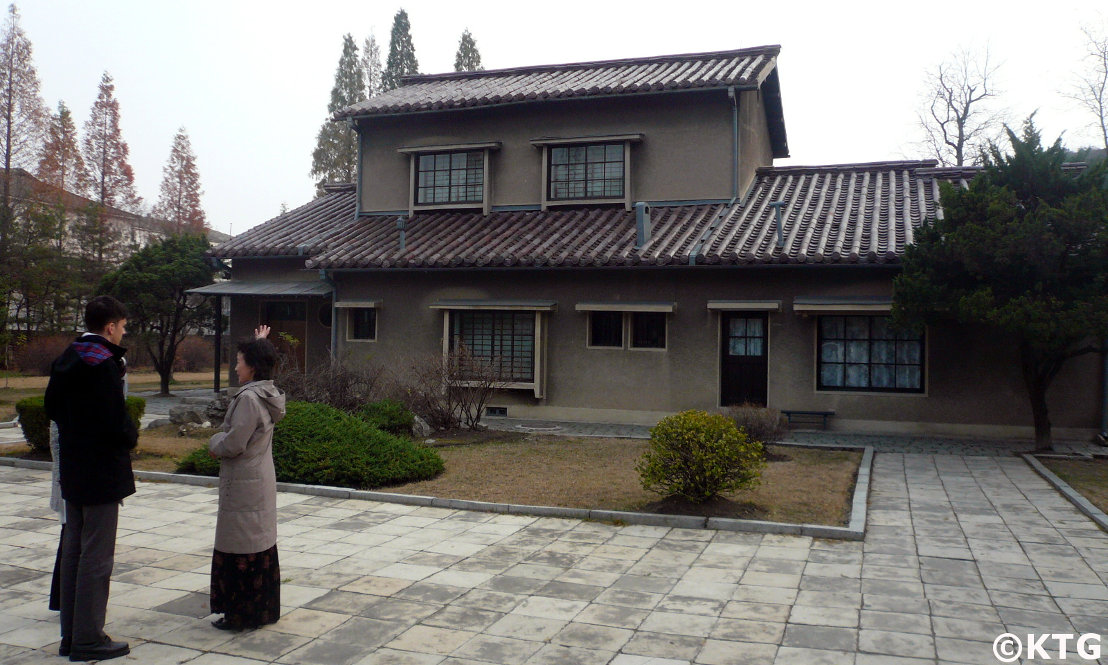 Replica of the Tongyang guesthouse at the train station revolutionary site in Wonsan, DPRK. Picture taken by KTG Tours