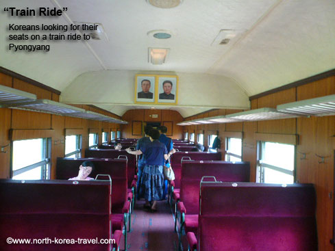 Train ride in North Korea