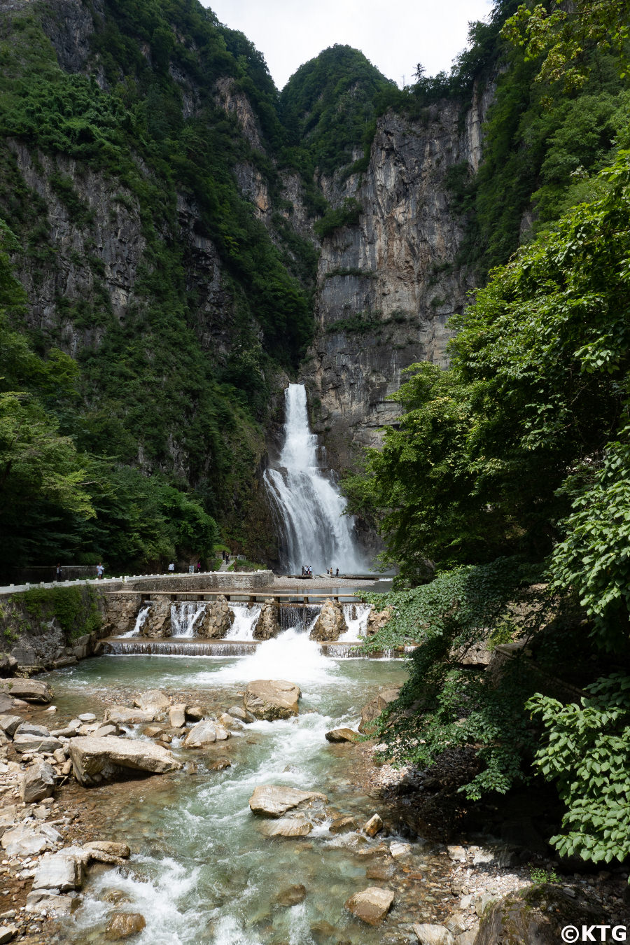 Ullim waterfalls in North Korea (DPRK) with KTG Tours