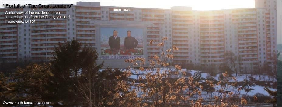 View from the Chongnyon Hotel in Pyongyang