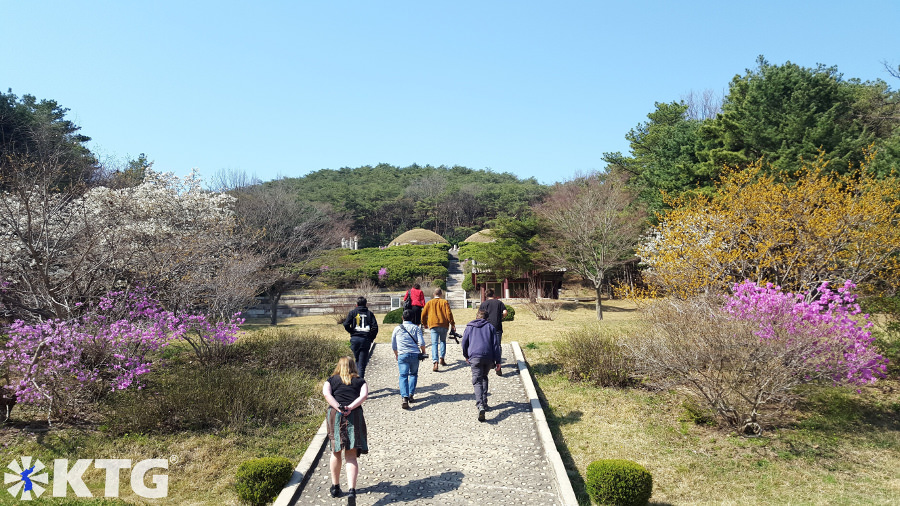 Twin tomb of King Kongmin and his wife in Kaesong, North Korea (DPRK). Trip arranged by KTG Tours
