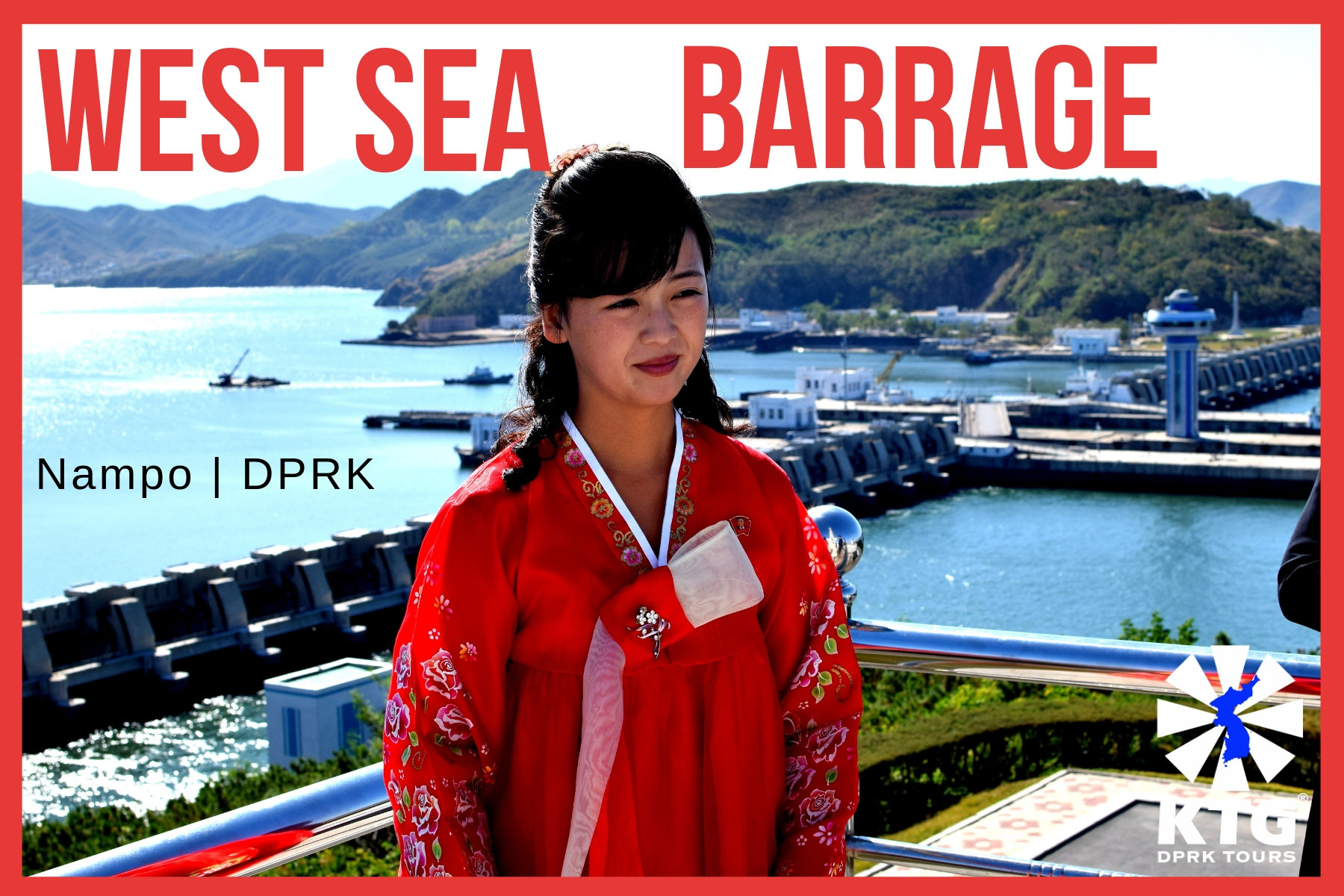The West Sea Barrage in North Korea