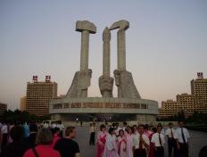 Monument de la Fondation du Patri des Travailleurs en Coree du Nord