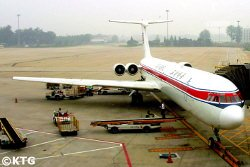Air Koryo plane going from China to Pyongyang, North Korea. KTG Tours