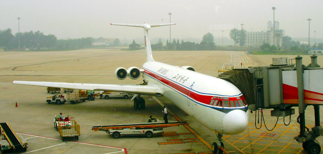 Air Koryo plane before departure in Beijing getting ready to fly to Pyongang