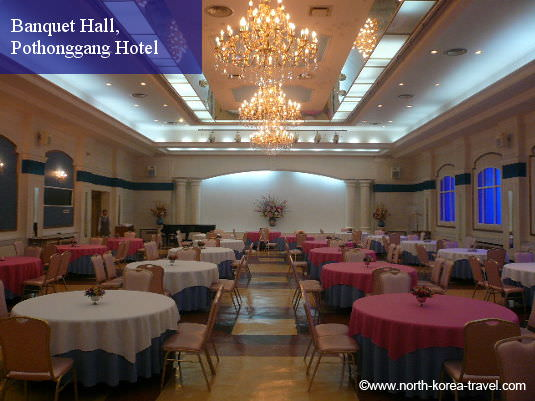 Banquet Hall at the Pothonggang Hotel in North Korea