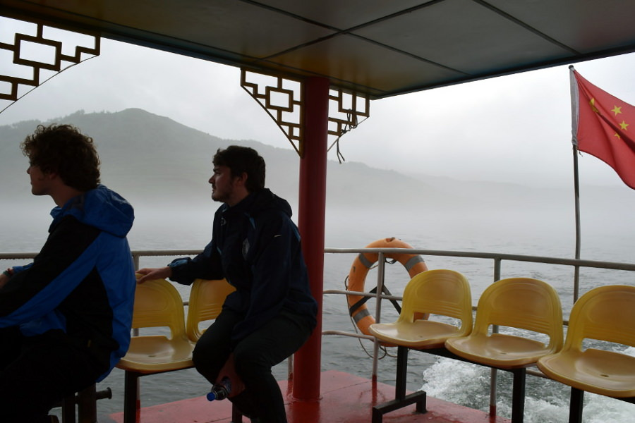 Hekou village, just across from North Korea. Boat ride on the Yalu River with KTG