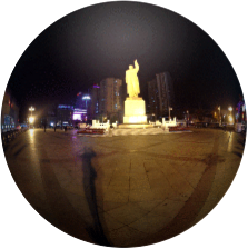 Dandong, China 360°, border city with North Korea (DPRK)