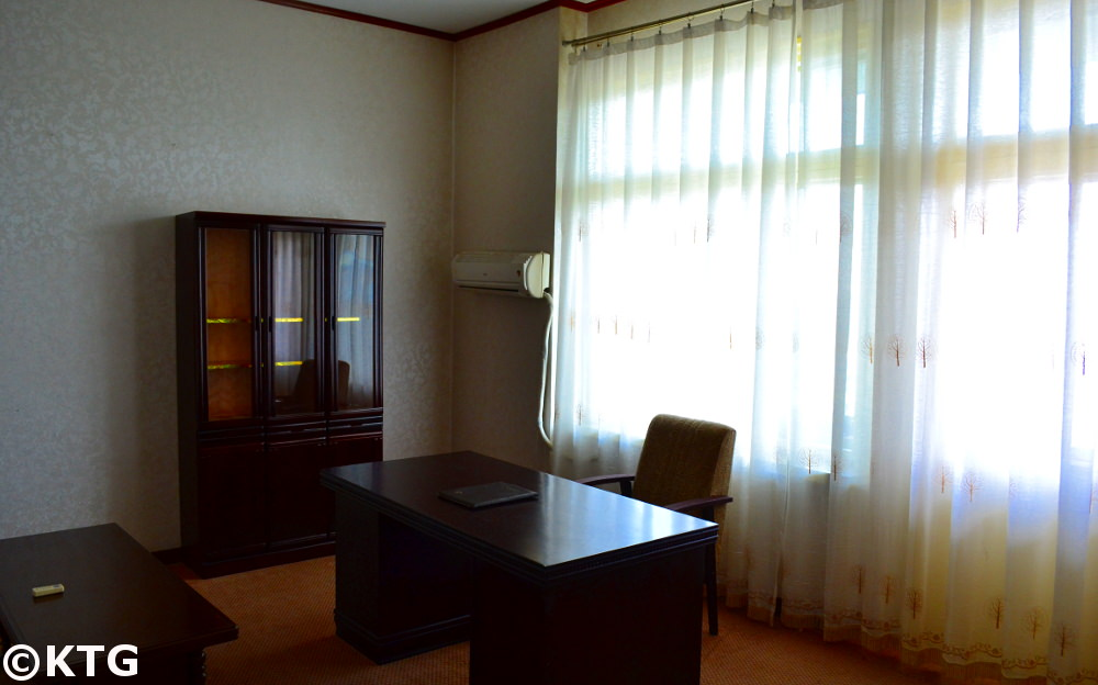 Changgwangsan Hotel, Deluxe room. This is a first class hotel (budget hotel) in Pyongyang, North Korea (DPRK)