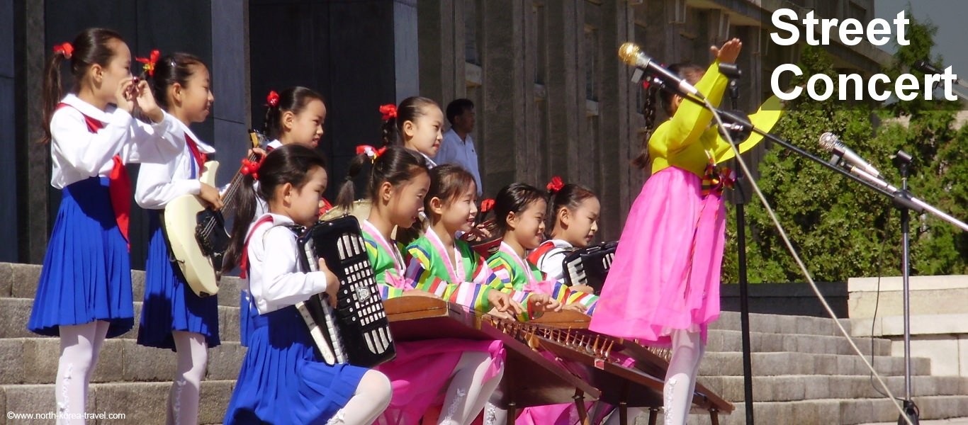Childrens' Street concert in Pyongyang, North Korea