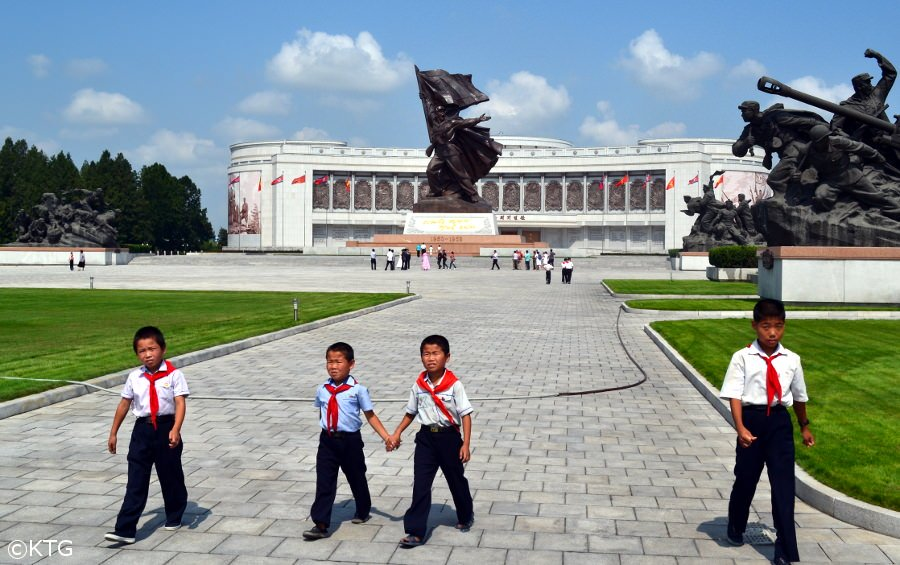 Children at the War Museum in Pyongyang, DPRK (North Korea)