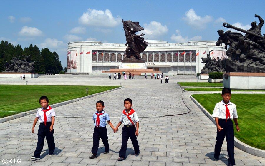 Children at the War Museum in Pyongyang, DPRK (North Korea)