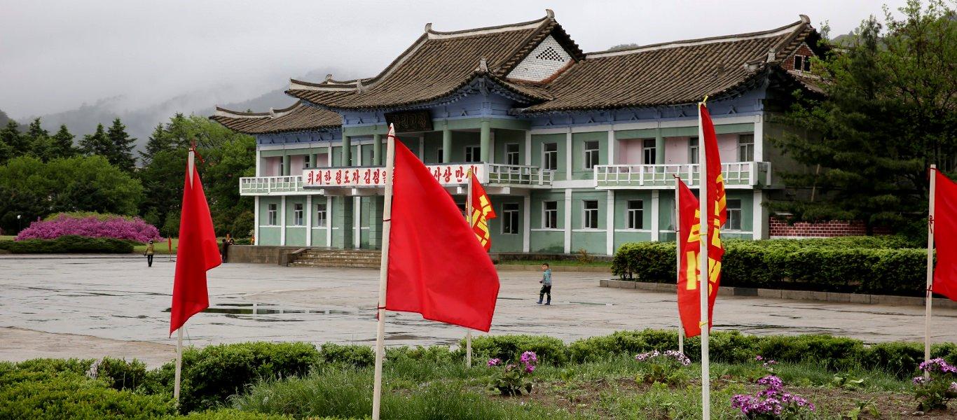 Hyangsan town near Mount Myohyang, DPRK (North Korea). Trip arranged by KTG tours
