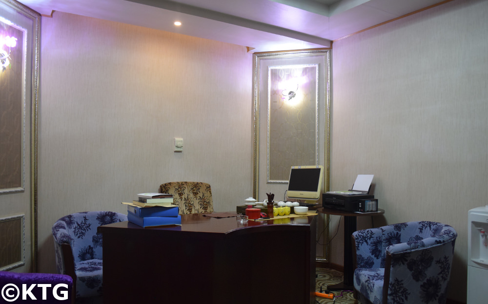 chongnyon Hotel, Youth Hotel, First class room office. Pyongyang, North Korea (DPRK)