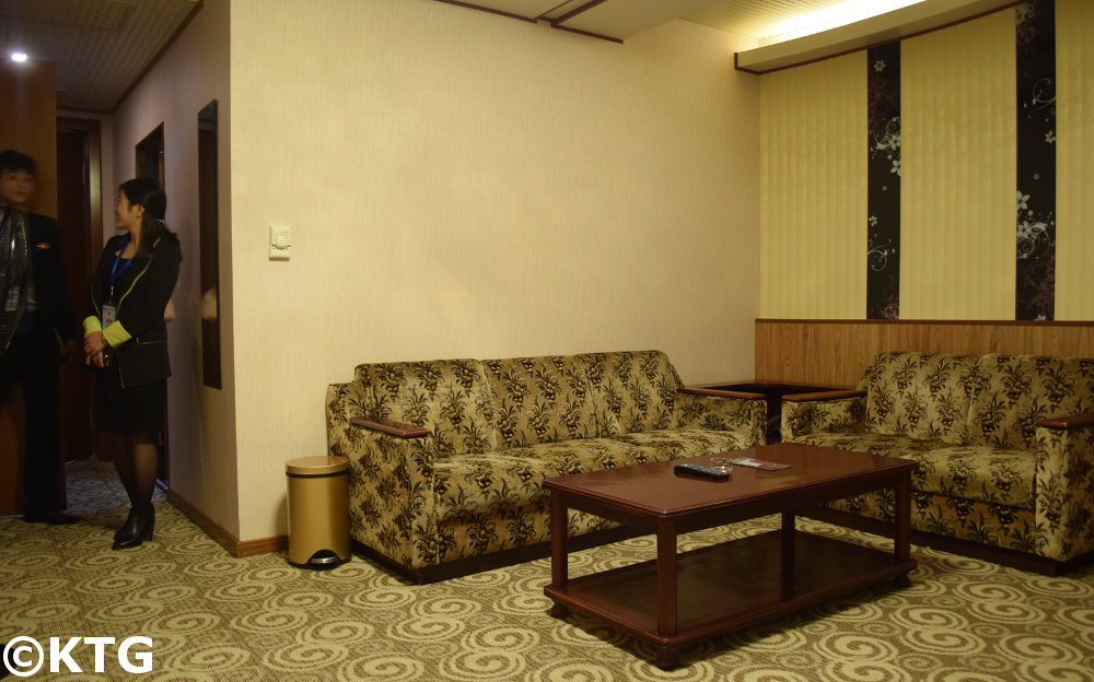 First class room at the Chongnyon Hotel (Youth Hotel) in Pyongyang, North Korea (DPRK)