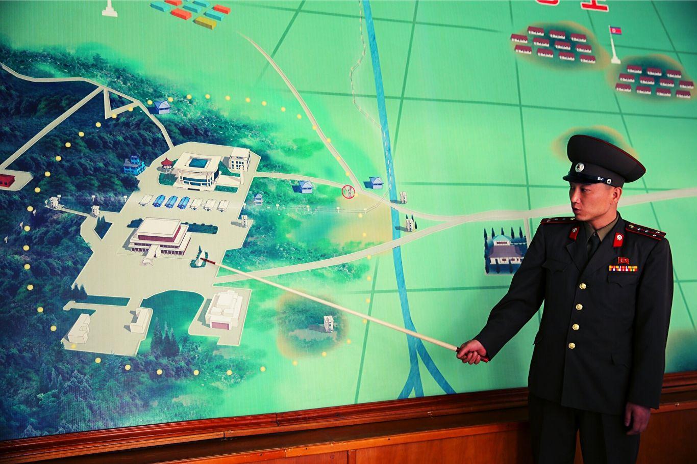 DMZ soldier in North Korea