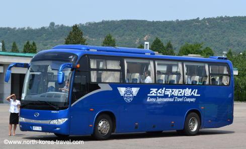 Autobús usado para el turismo en Corea del Norte