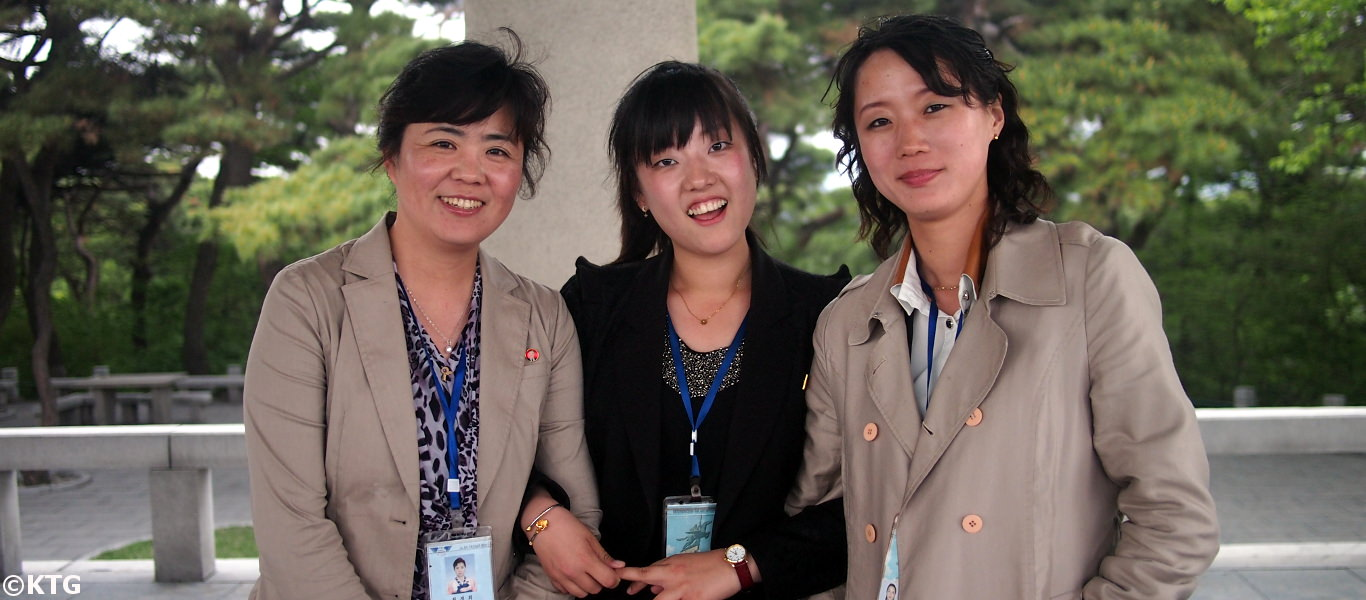 North Korean tour guides in Pyongyang. Picture taken by KTG Tours