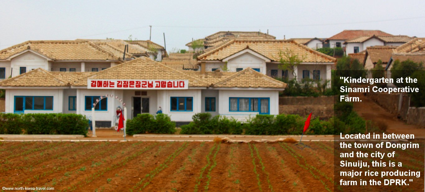 Farm near the town of Dongrim in North Korea. We offer extended tours here and to Sinuiju