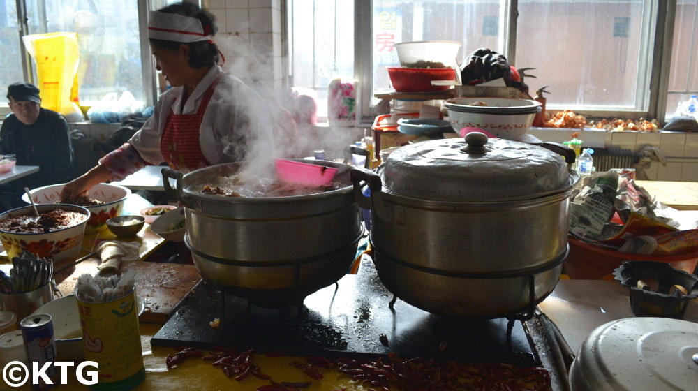 Food market in Helong in the Yanbian Korean Autonomous Prefecture in Jilin Province, China