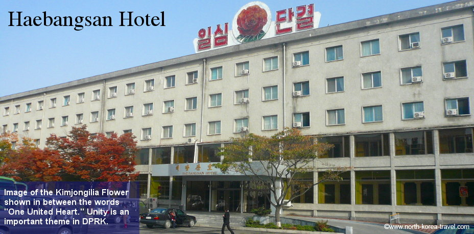 The Haebangsan Hotel in Pyongyang very close to the train station. Picture taken on one of our autumn tours back in 2009