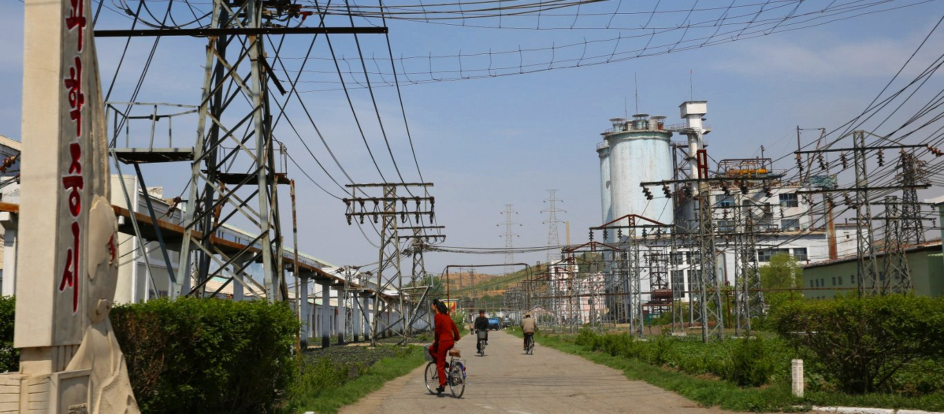 Factory in Hungnam city near Hamhung city, North Korea (DPRK)