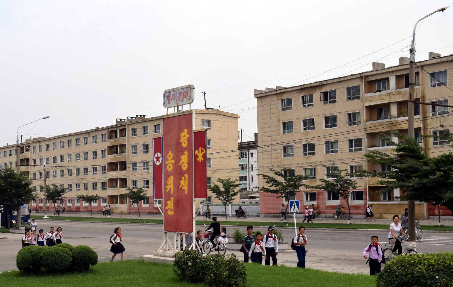 North Korean Young Pioneers in Hamhung city, North Korea (DPRK)