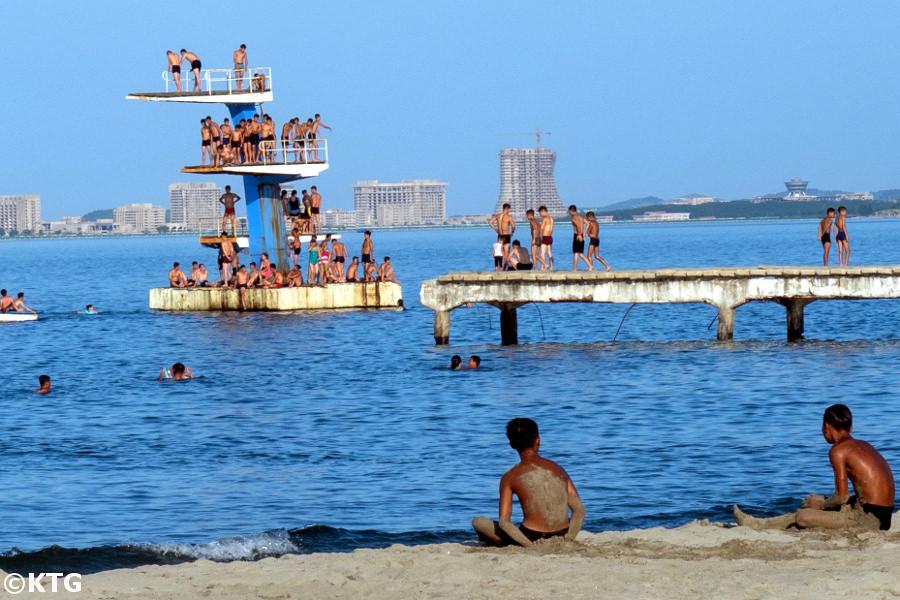 Beach in Wonsan, North Korea. This is Songdowon beach