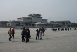 Kumsusan Memorial Palace in Pyongyang, DPRK (North Korea). Tour arranged by KTG
