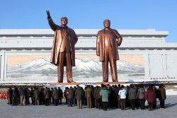 Mansudae Grand Statues in Pyongyang, capital of North Korea