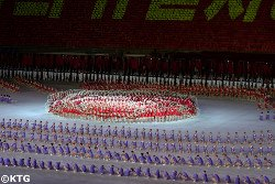 Mass Games in Pyongyang, the capital city of North Korea. Trip arranged by KTG Tours