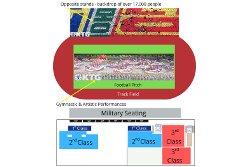 Mass games seating map