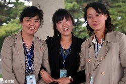 North Korean tourist guides who led a KTG Tours group with one of our Western tour leaders
