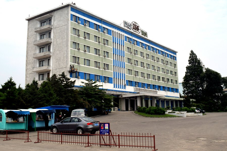 Soviet styled North Korean hotel; the Sinsunhang Hotel in Hamhung city, North Korea. This hotel is located in the city center of the second largest city in the DPRK. Picture taken by KTG Tours