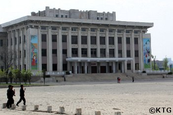 Central Square in Sinuiju, North Korea, DPRK. Picture taken by KTG