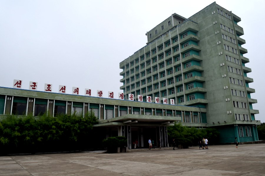 Songdowon Hotel in Wonsan city a port city on the east coast of North Korea (DPRK). Tour arranged by KTG Travel