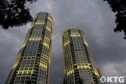 Gratte-ciel sur la nouvelle avenue Ryomyong à Pyongyang avec KTG Tours