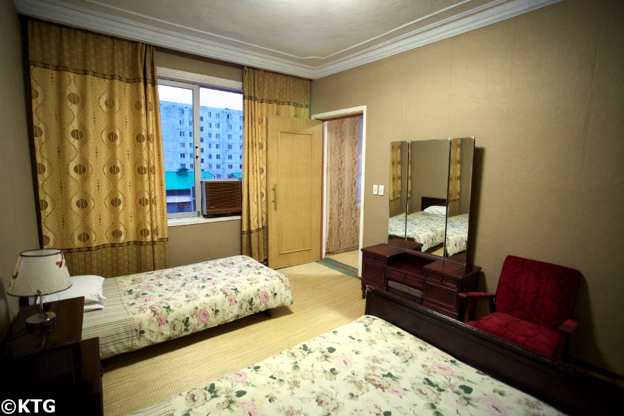 Room at the Jangsusan Hotel in Pyongsong, North Korea. Picture taken by KTG