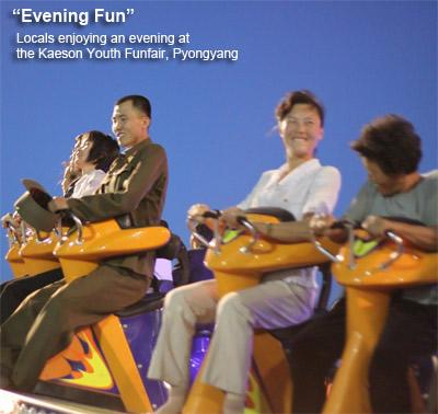 Kaeson Park, funfair in Pyongyang, North Korea