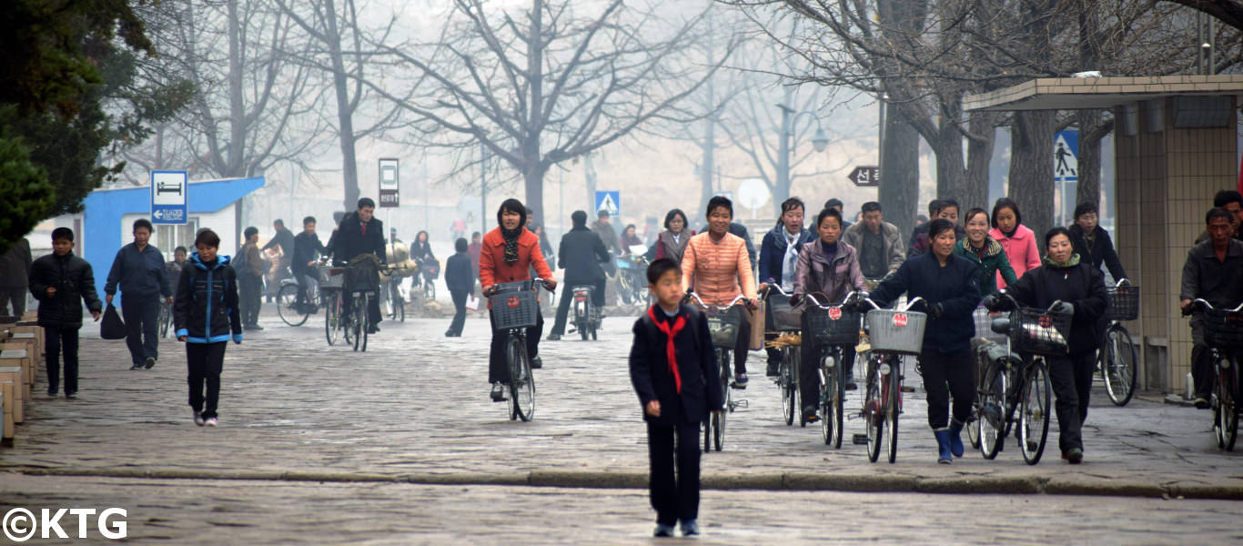 Kaesong city in North Korea in November