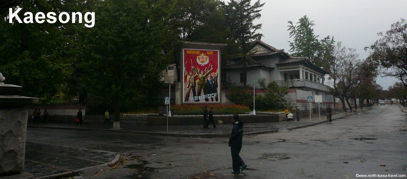 Kaesong Stadtzentrum im alten Teil der Stadt, Nordkorea (DVRK)