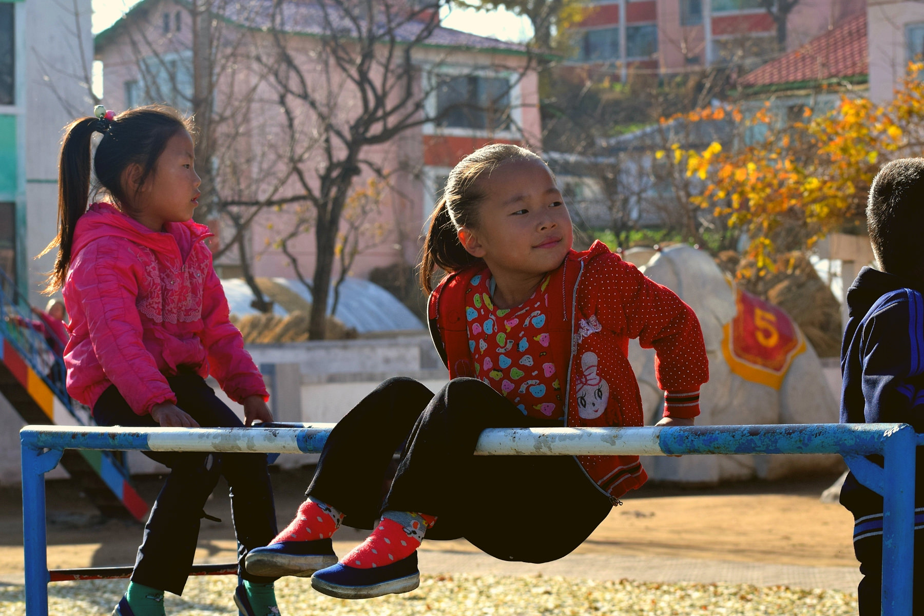 Kindergarten in a cooperative farm in North Korea. Visit arranged by KTG. We arrange trips for people who would like to donate goods to farms and orphanages in North Korea (DPRK)
