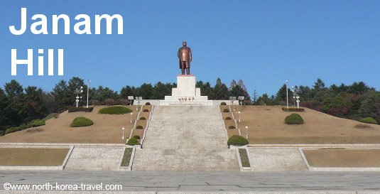 Präsident Kim Il Sung Statue auf Janam Hill in Kaesong Nordkorea (DVRK)