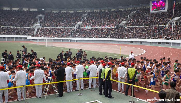 North Koreans start running the Pyongyang Marathon