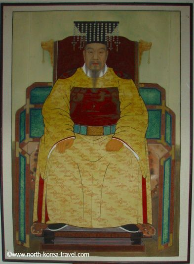 Koryo King. Picture from the Koryo Museum in Kaesong, DPRK