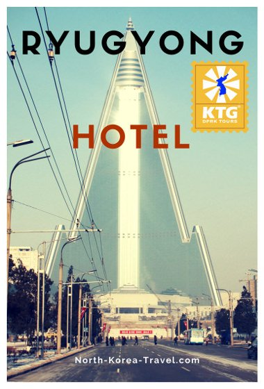 Ryugyong Hotel in Pyongyang, the capital of North Korea (DPRK). Winter picture