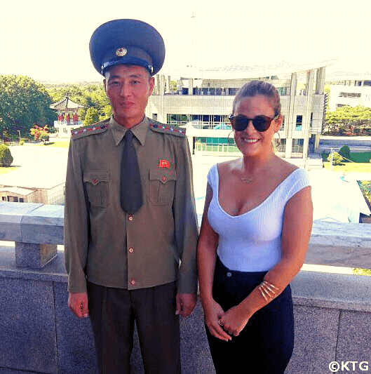 KTG traveller at the DMZ in North Korea