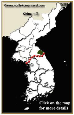 Mapa de Kumgangsan (el Monte Kumgangsan), Corea del Norte
